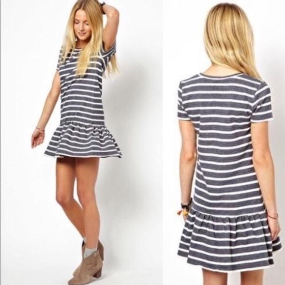 ASOS Petite Dresses & Skirts - ASOS Petite Peplum Striped Dress